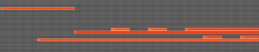 Synth notes for arpeggios