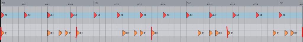 KaarLeek main rhythmic figure
