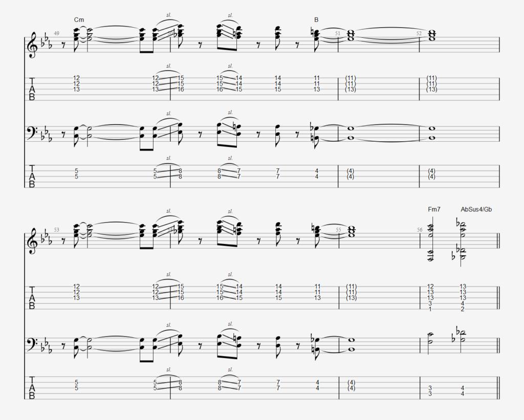 Stick chords