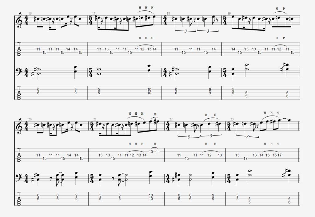 Raak unison melody 1