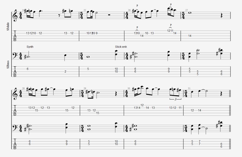 Raak unison melody 2