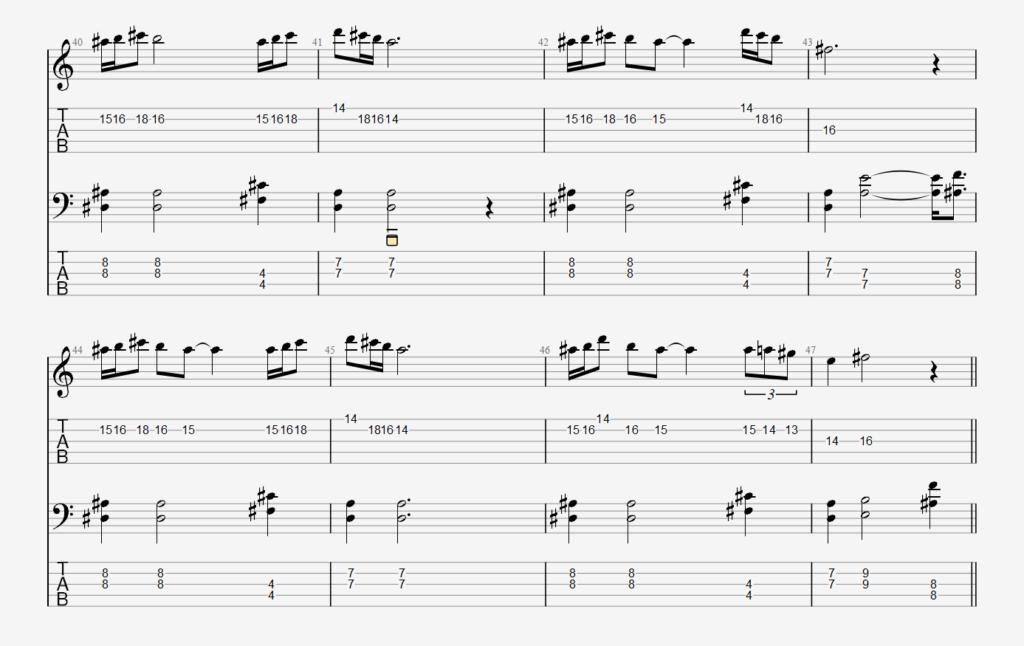 Raak modulated melody.